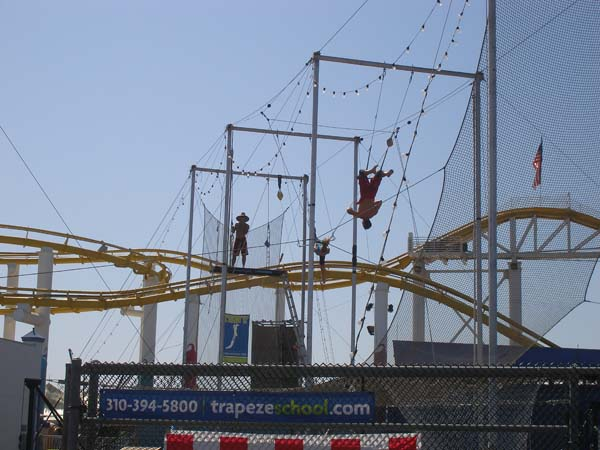 Santa Monica Pier flying trapeze
