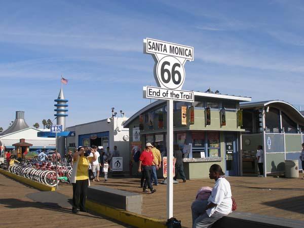 Santa Monica Pier Route 66 sign