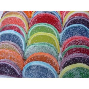 Jellied fruit slices