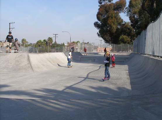 Skate boarding park on Jefferson Boulevard