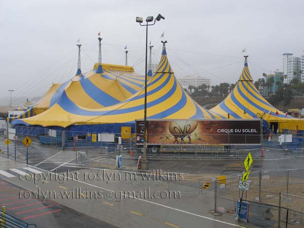 Cirque du Soleil tents at Santa Monica Pier