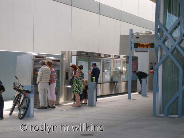 Buying tickets at the Culver City station