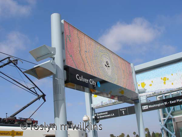 Artwork at the Culver City Expo Line station