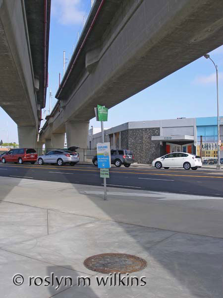 Culver City Expo Line bus stop