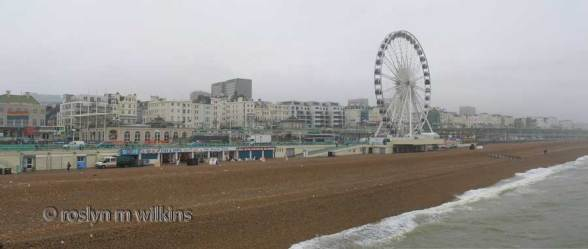 View from pier along Brighton seafront