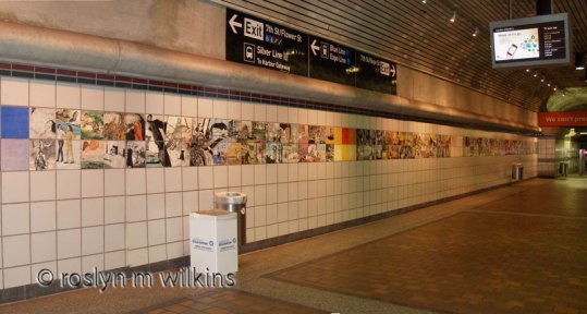 Metro Center at 7th and Flower - tile mural