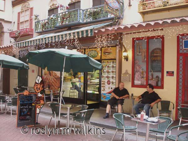 St. Vincent's Court downtown LA - where we bought our sandwiches