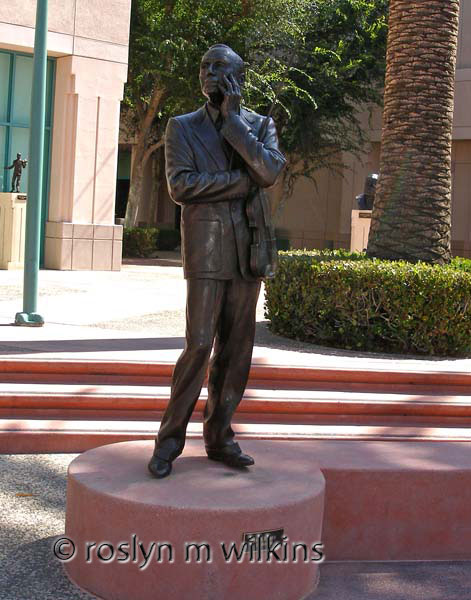 Statue of Jack Benny at the Academy of Television Arts & Sciences