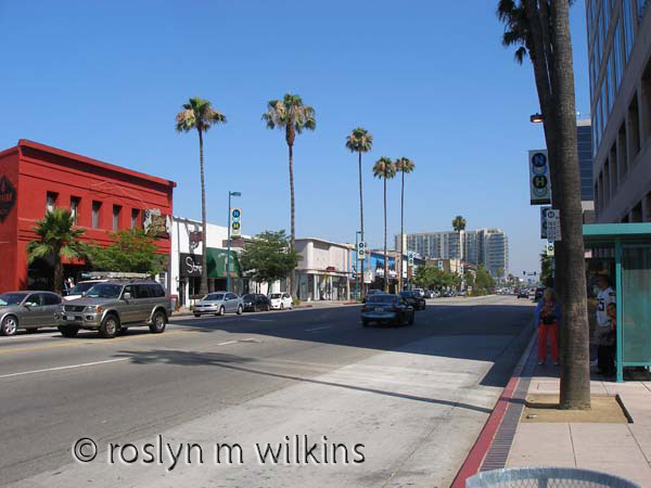 Looking along Lankershim Blvd in North Hollywood