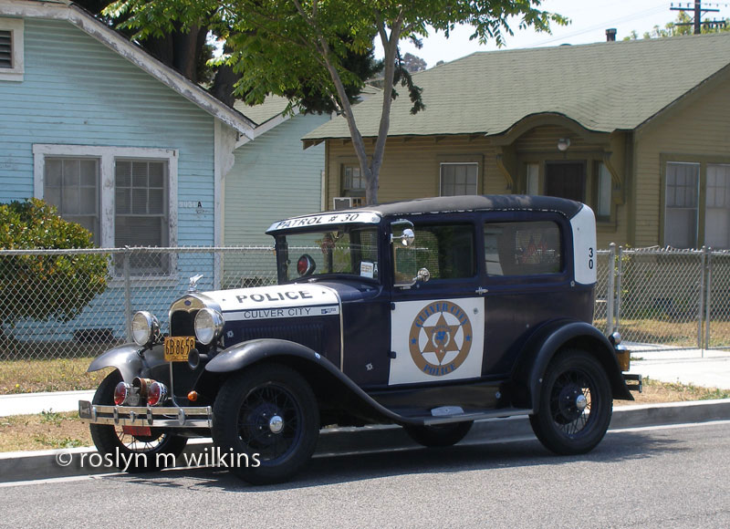 culver city vintage police car