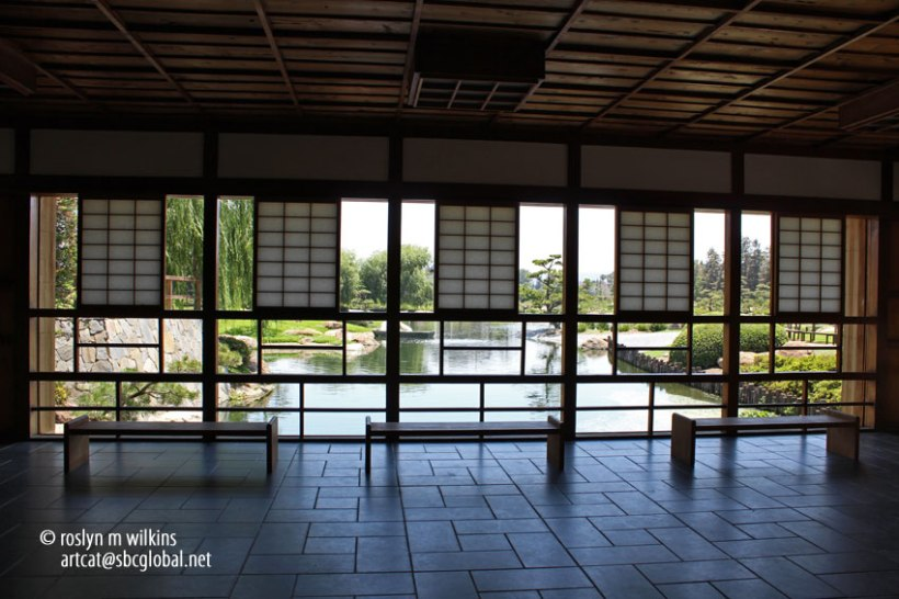 There is no separation between garden and architecture according to Japanese design concepts.