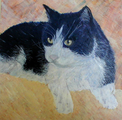friday cat painting