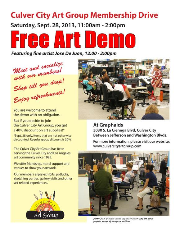 Culver City Art Group Membership Drive