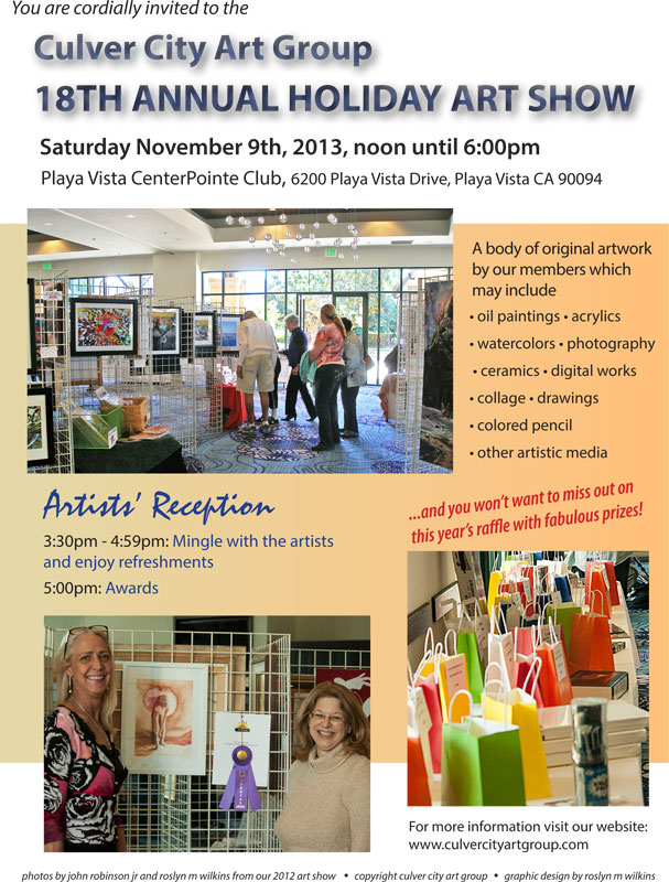 culver city art group holiday art show 2013