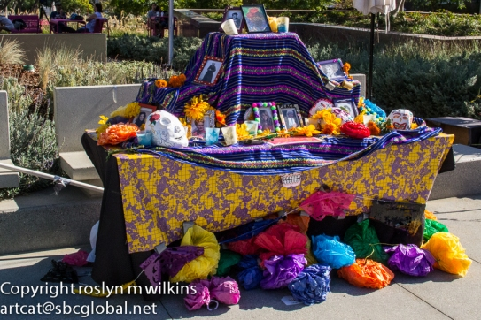 Some altars are set up for specific families or people