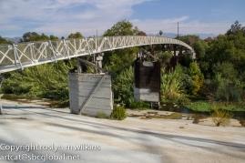 Pedestrian bridge across the river