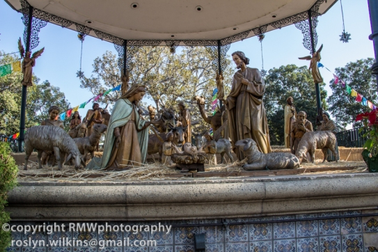 Nativity scene in La Plaza