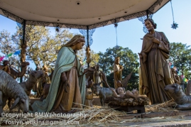 Closer view of nativity scene