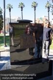 Vietnam Memorial with a self-proclaimed homeless vet