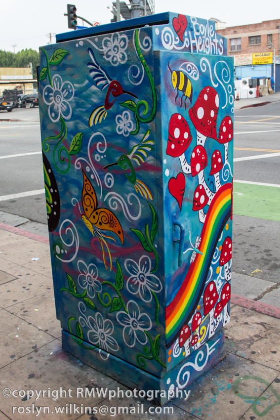 utility boxes in east LA