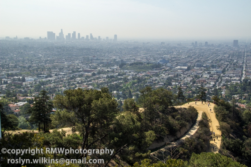 The view above, obviously, is of the Hollywood sign. Another reason why tourists like to come to the Observatory.