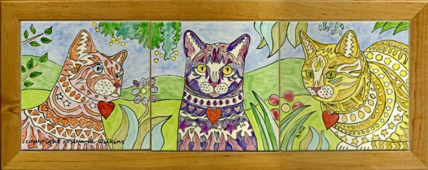colors of spring cat tiles