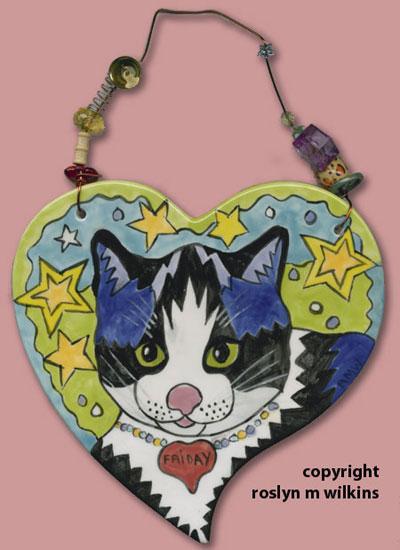 cat heart tiles