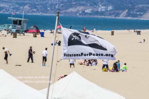 santa monica beach veterans for peace