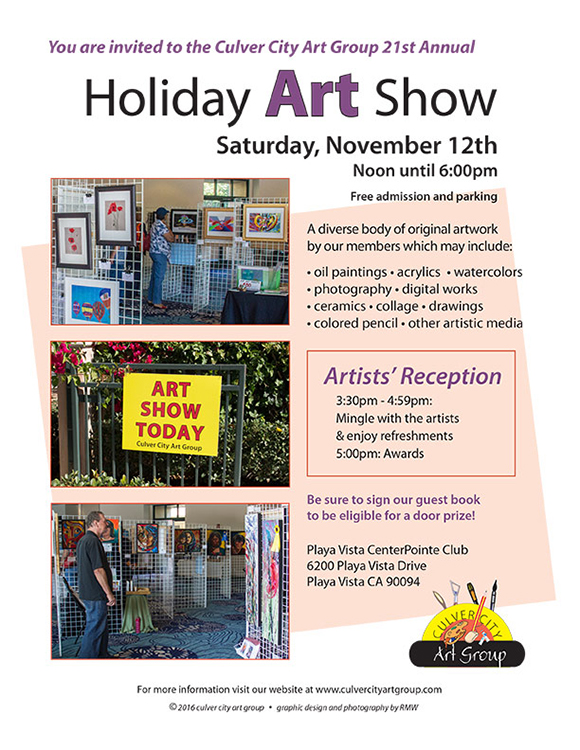 Culver City Art Holiday Art Show flyer